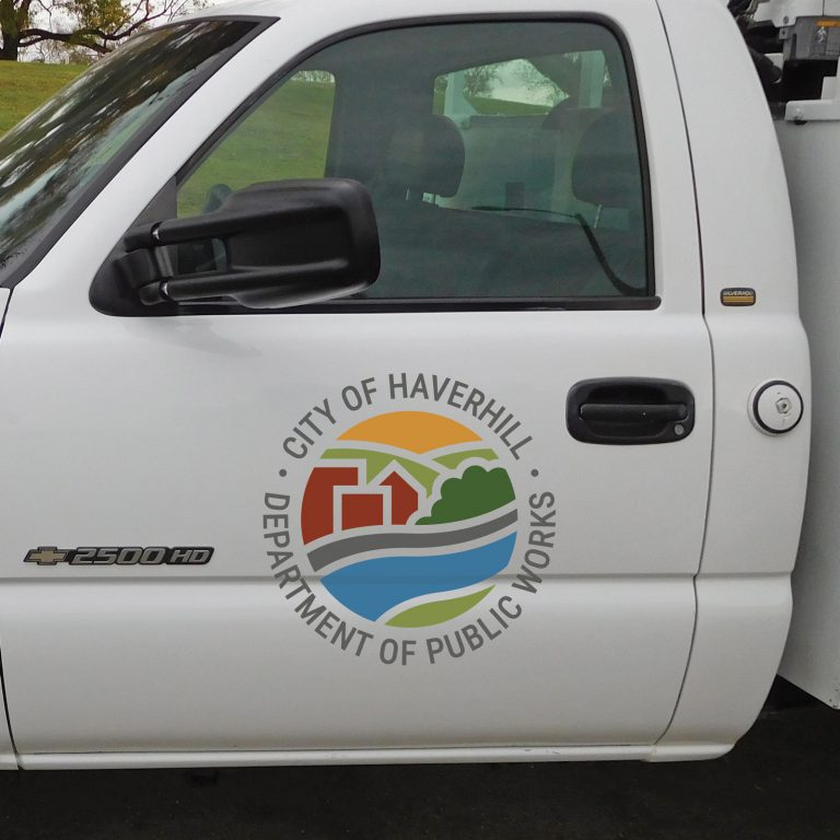DPW Logo on Utility Truck